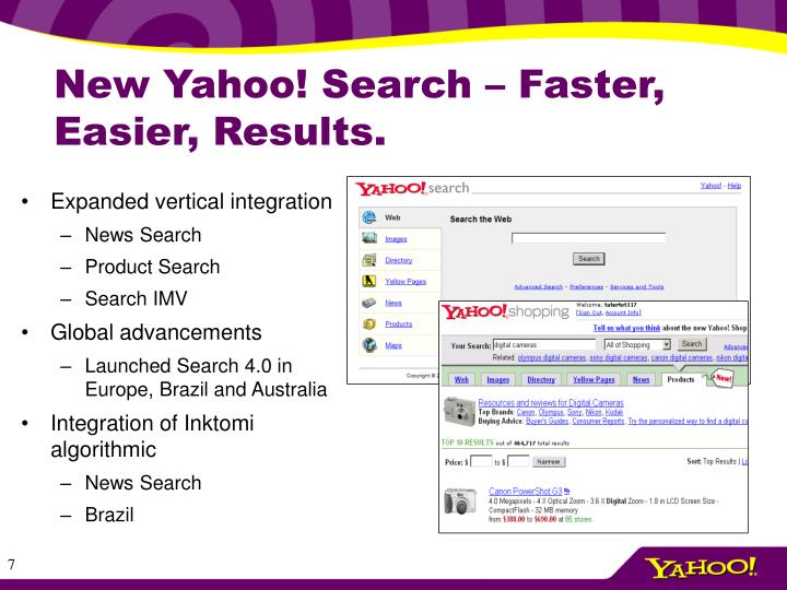 New Yahoo! Search – Faster, Easier, Results.