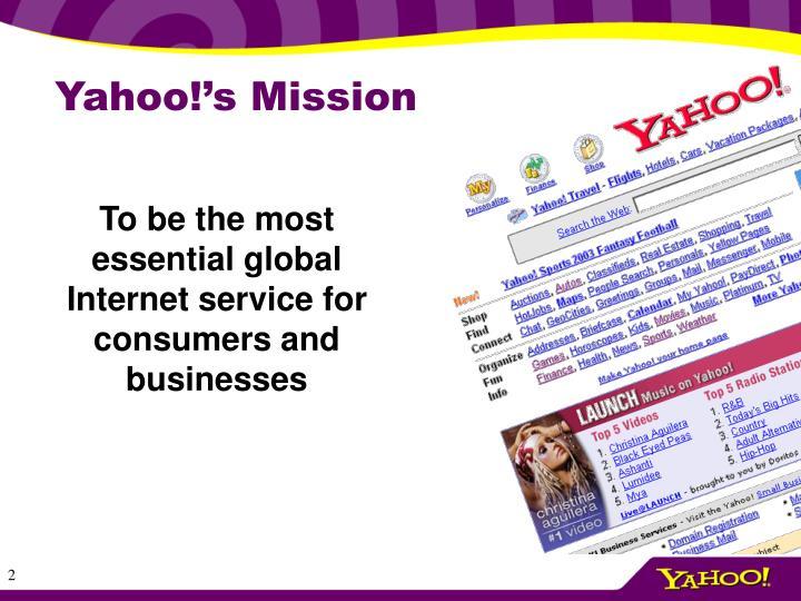 Yahoo s mission