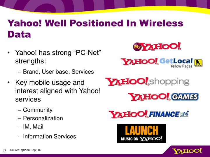Yahoo! Well Positioned In Wireless Data