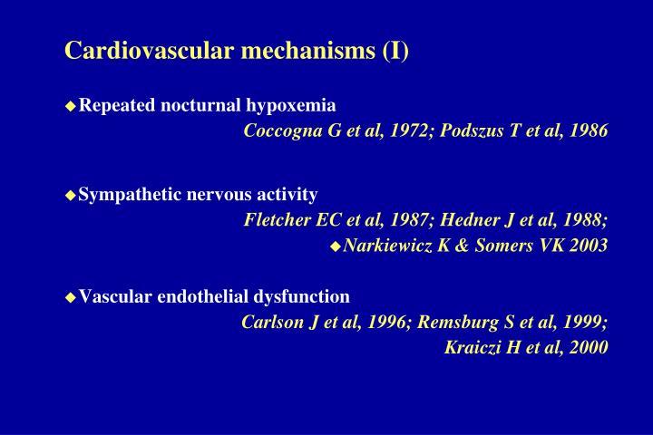 Cardiovascular mechanisms (I)