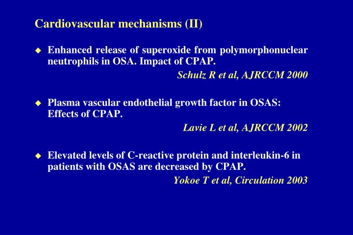 Cardiovascular mechanisms (II)