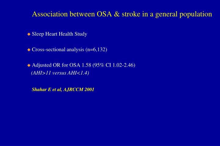 Association between OSA & stroke in a general population