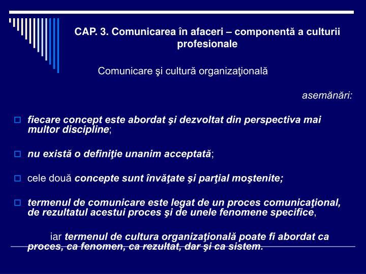 Cap 3 comunicarea n afaceri component a culturii profesionale1
