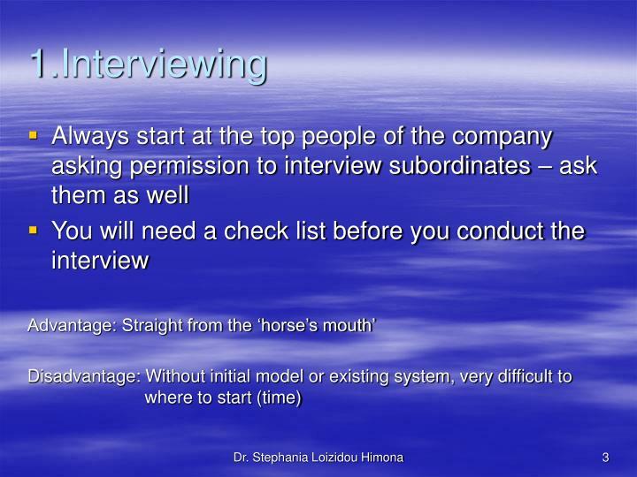 1 interviewing