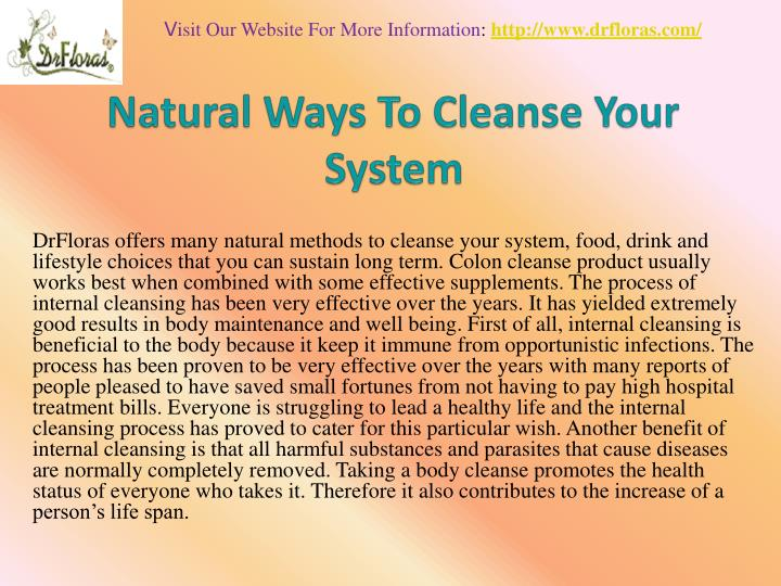 natural ways to cleanse your system n.