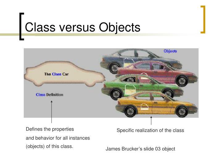 Class versus Objects