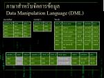 data manipulation language dml5