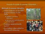 forests provide economic potential