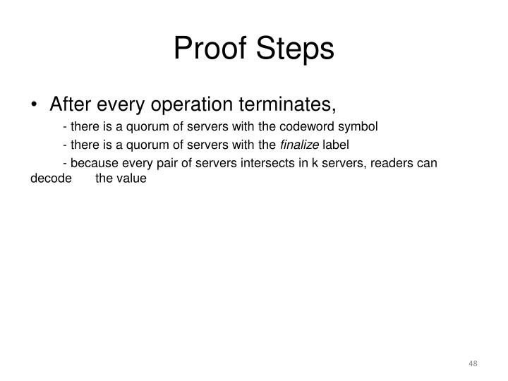 Proof Steps