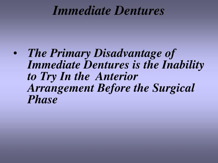 Immediate Dentures