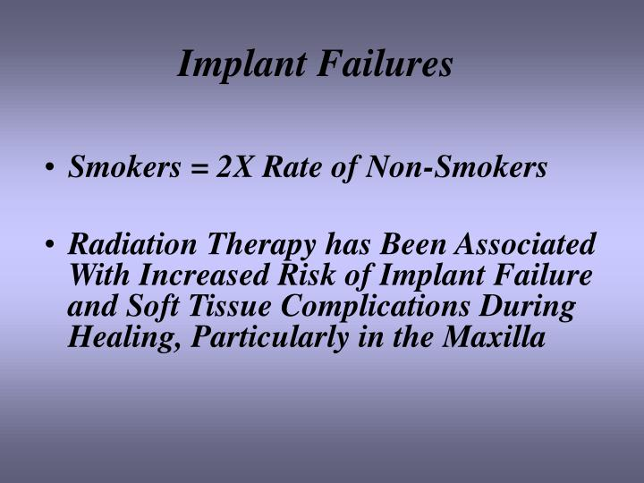 Implant Failures