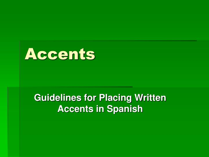 accents n.