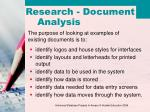 research document analysis