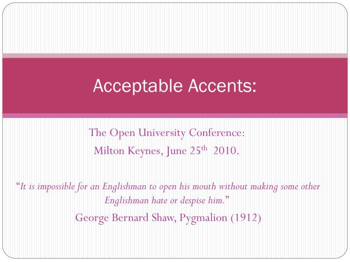 acceptable accents n.
