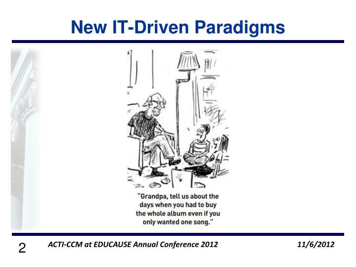 New it driven paradigms