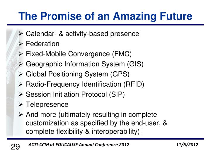 The Promise of an Amazing Future