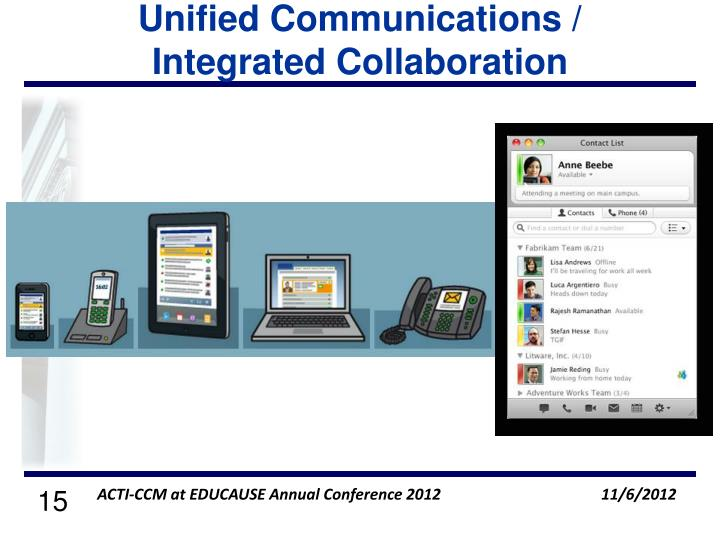 Unified Communications / Integrated Collaboration