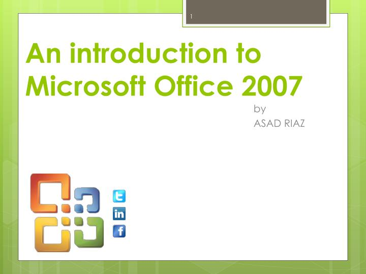 an introduction to microsoft office 2007 n.