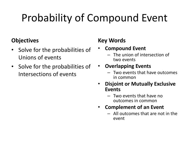 Probability simple and compound. Ppt video online download.
