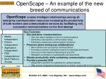 openscape an example of the new breed of communications