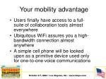 your mobility advantage