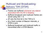 multicast and broadcasting delivery tim dtim