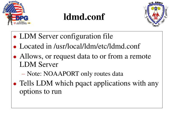 LDM Server configuration file