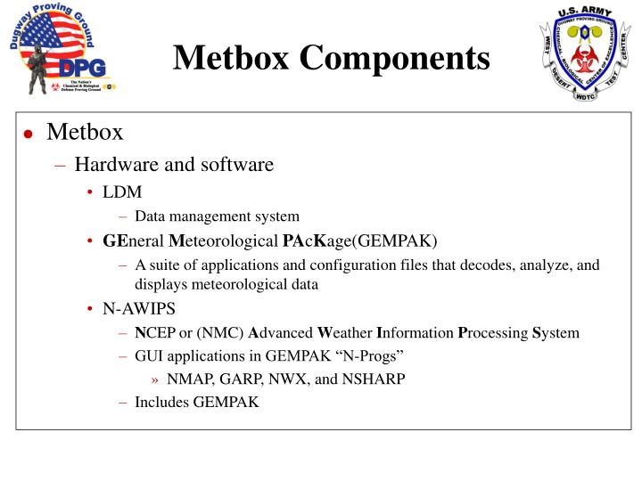 Metbox components