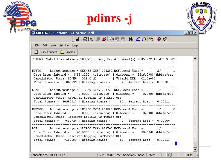 pdinrs -j