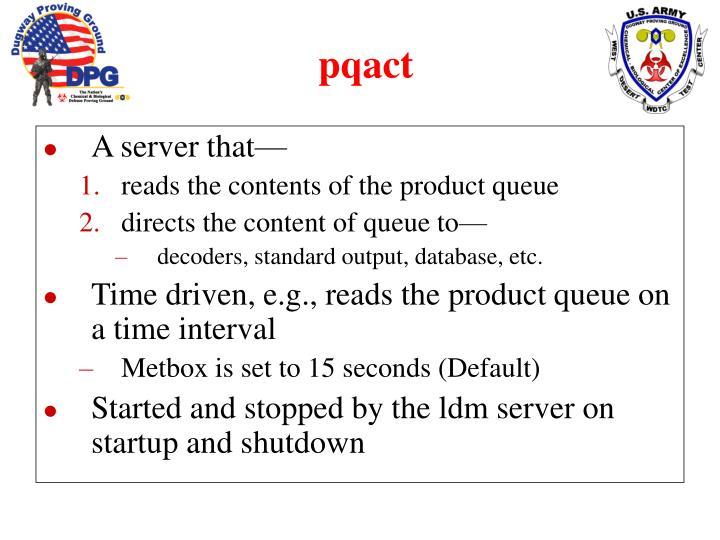 A server that—