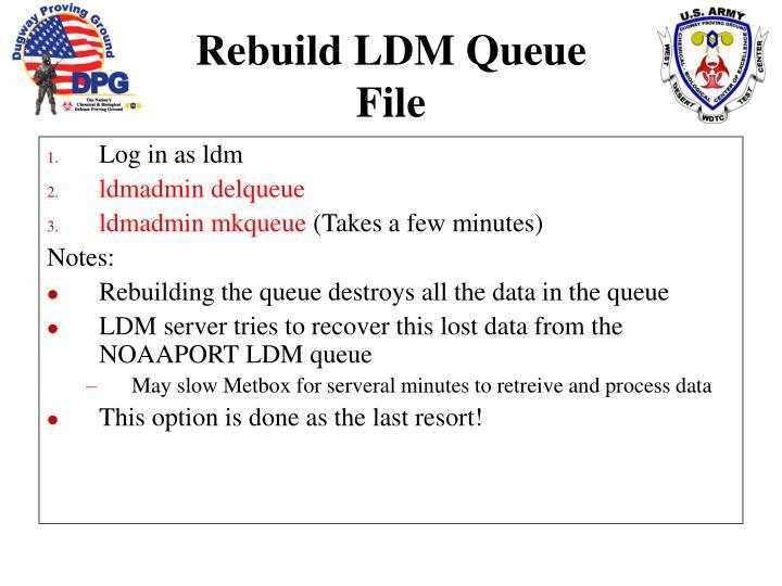 Log in as ldm