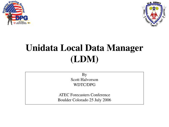 Unidata local data manager ldm