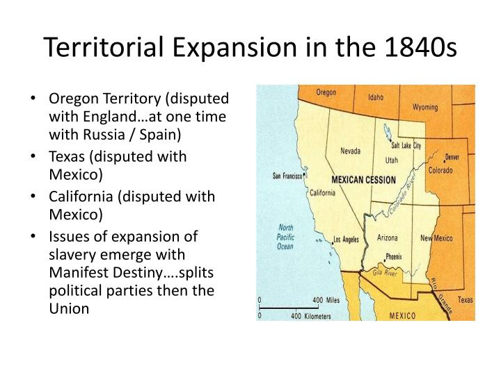 Territorial expansion in the 1840s