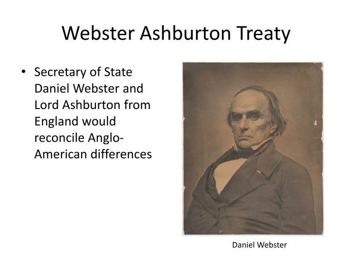 Webster Ashburton Treaty