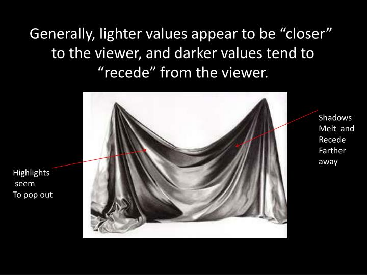 "Generally, lighter values appear to be ""closer"""
