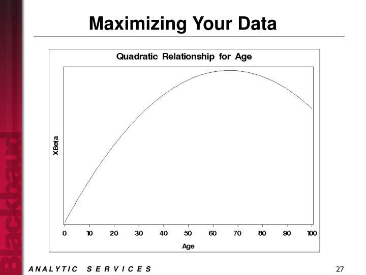 Maximizing Your Data
