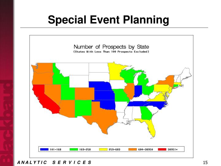 Special Event Planning