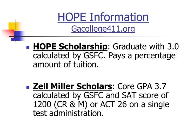 HOPE Program Summary