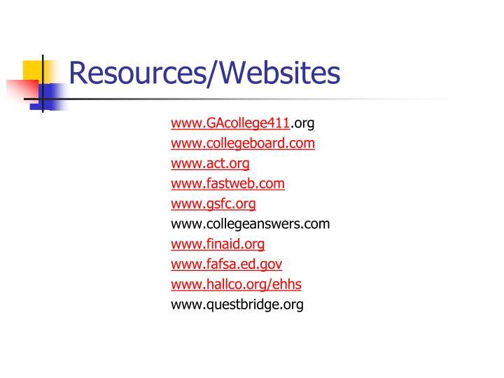 Resources/Websites