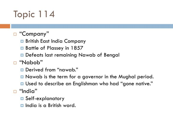 Topic 114