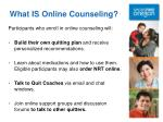 what is online counseling