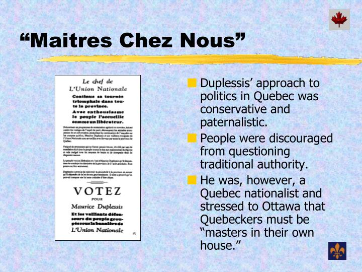 Ppt the quiet and not so quiet revolution powerpoint for Chez leon meuble quebec