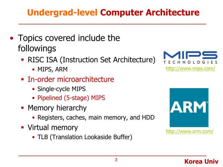 Undergrad level computer architecture