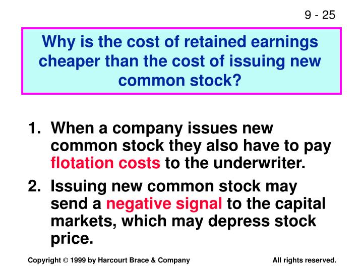 cost of retained earnings