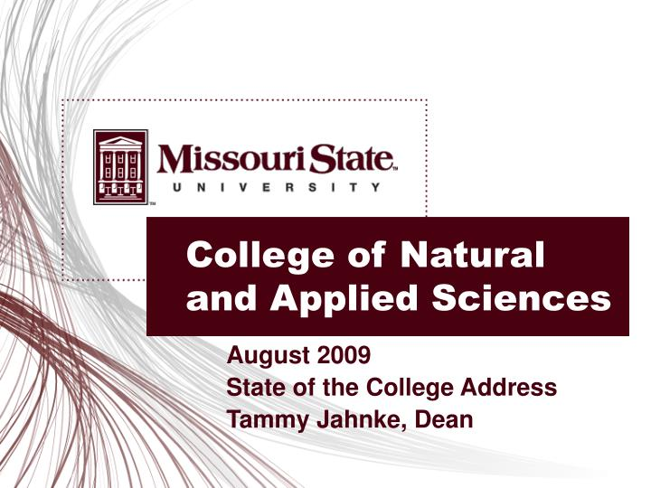 college of natural and applied sciences n.