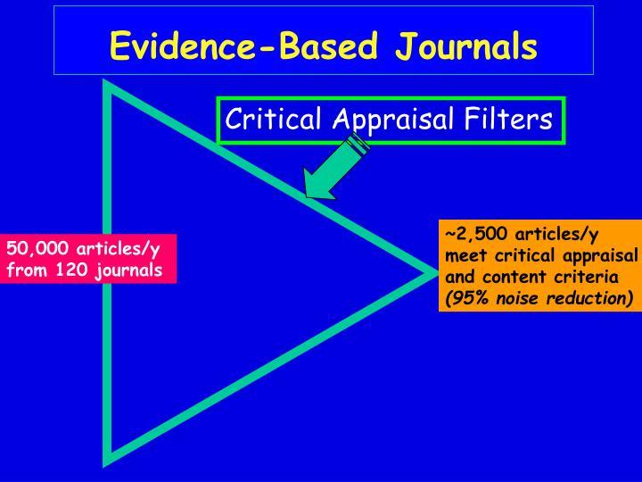 Critical Appraisal Filters