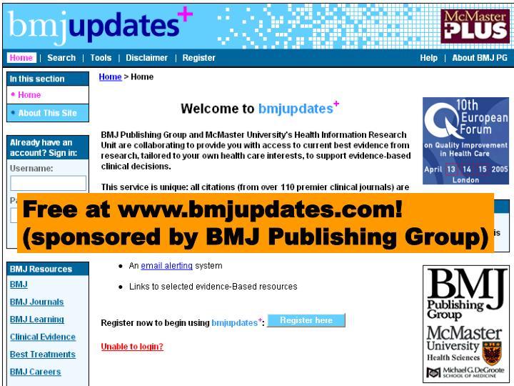 Free EBM literature updating service