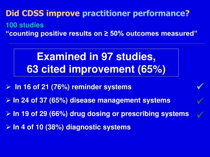 Did CDSS improve