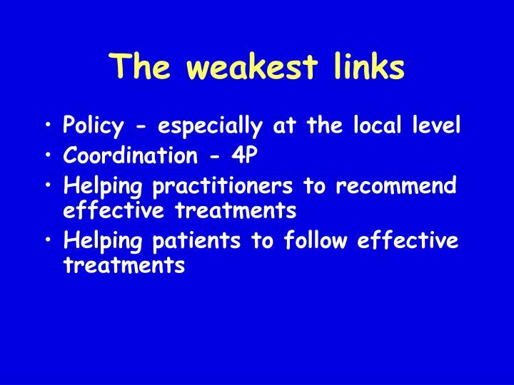 The weakest links