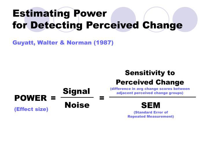 Estimating Power